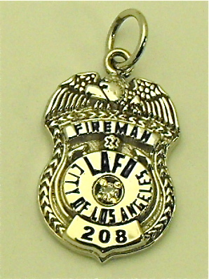 LAFD Fireman's Pendant in 14kt gold