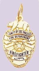 LA County Fire Dept Badge Pendant