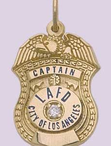 LAFD Captain's Pendant in 14kt gold