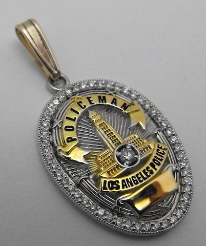 "LAPD Diamond Pendant 3/4"""